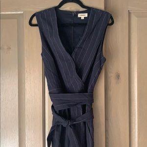 L'AGENCE Pants - Pinstripe navy jumpsuit